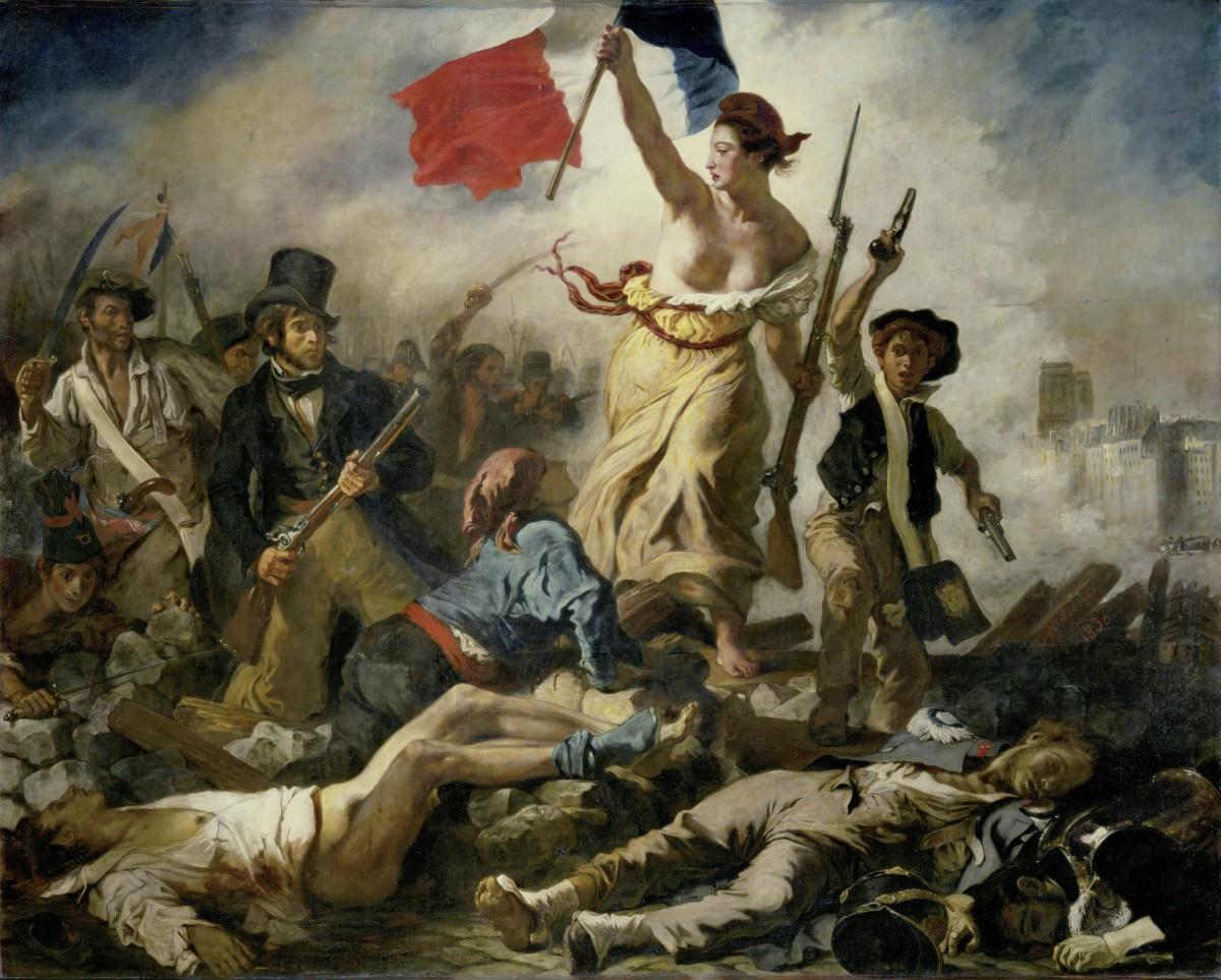 la liberté guidant le peuple d'eugène delacroix 1830