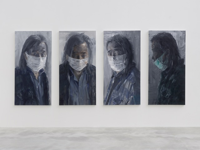 self portrait with mask yan pei ming
